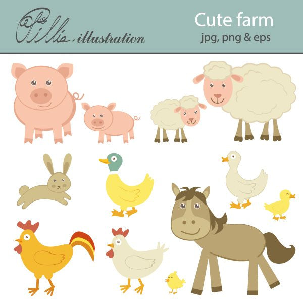 Cute_Farm  Olillia Illustration    Mygrafico