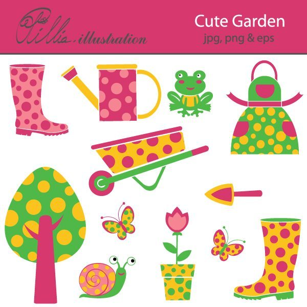 Cute garden  Olillia Illustration    Mygrafico