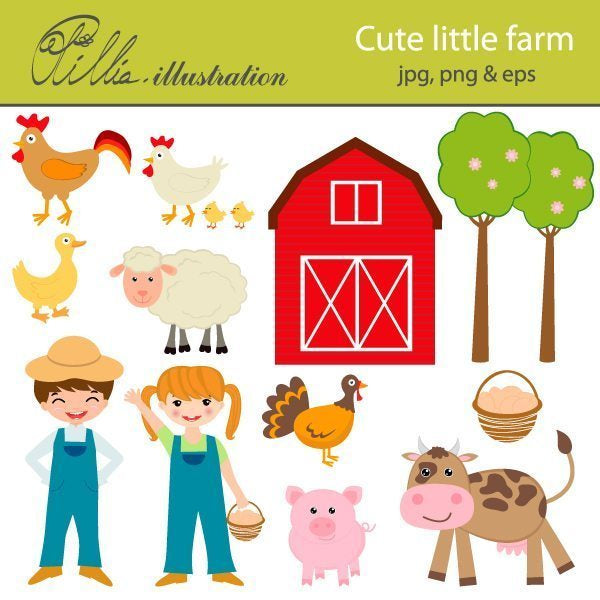 Cute little farm  Olillia Illustration    Mygrafico