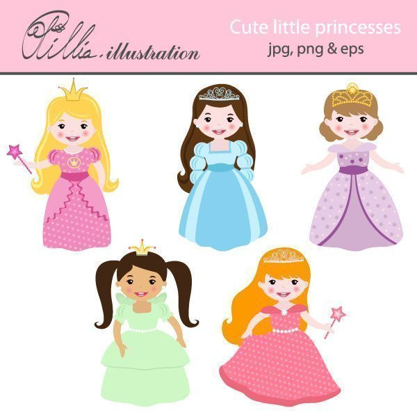 Cute little princesses  Olillia Illustration    Mygrafico