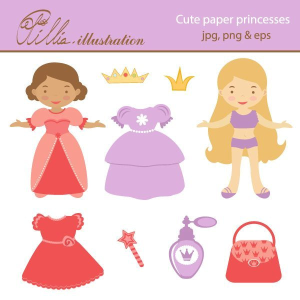 Cute_paper_princesses  Olillia Illustration    Mygrafico