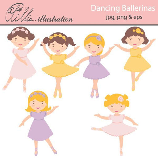Dancing Ballerinas  Olillia Illustration    Mygrafico