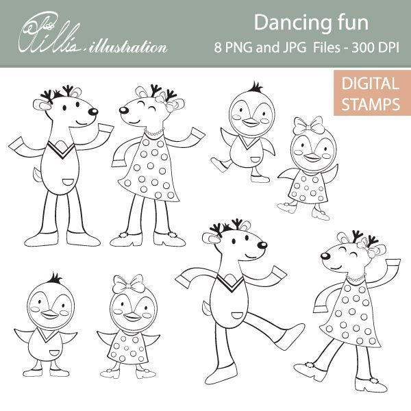 Dancing fun  Olillia Illustration    Mygrafico