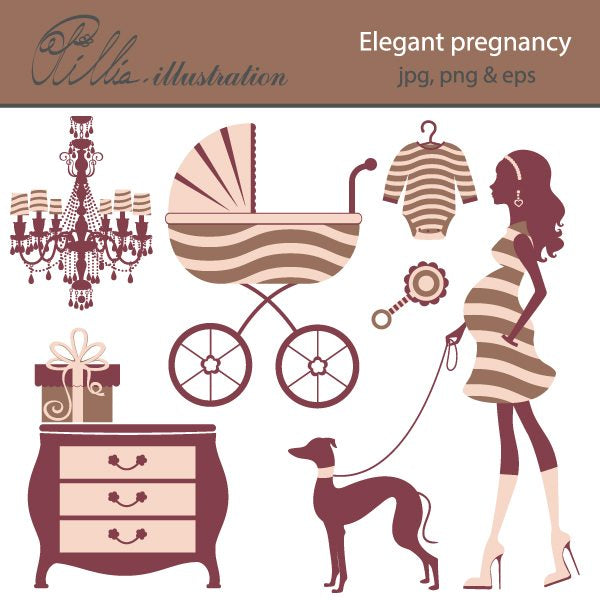 Elegant pregnancy  Olillia Illustration    Mygrafico