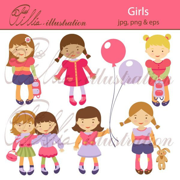 Girls  Olillia Illustration    Mygrafico