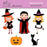 Halloween kids clipart  Olillia Illustration    Mygrafico