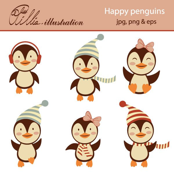 Happy_Penguins  Olillia Illustration    Mygrafico