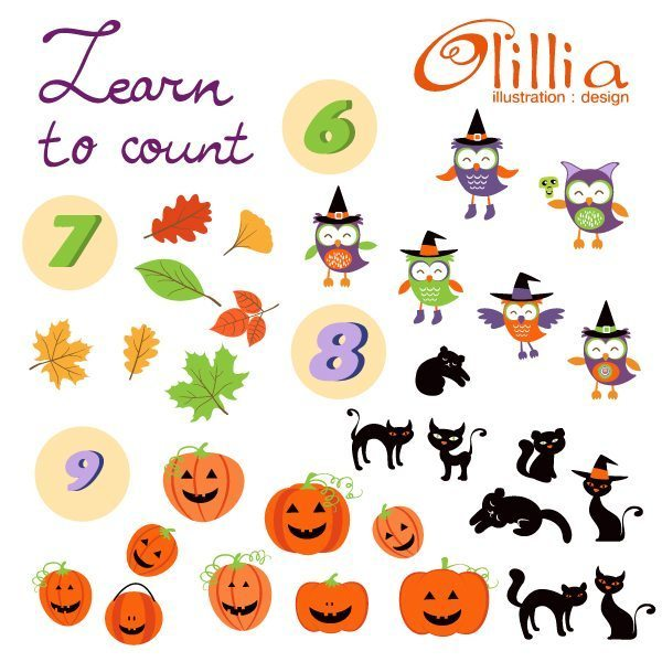 Learn to count clipart  Olillia Illustration    Mygrafico