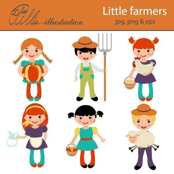 Little farmers  Olillia Illustration    Mygrafico