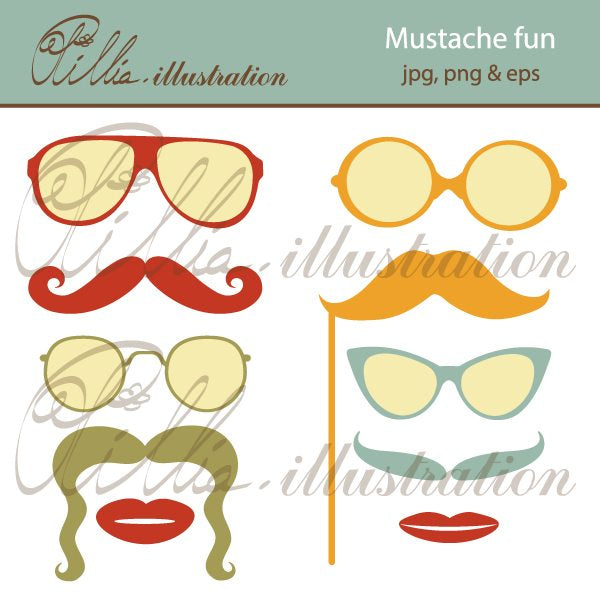 Mustache_fun  Olillia Illustration    Mygrafico