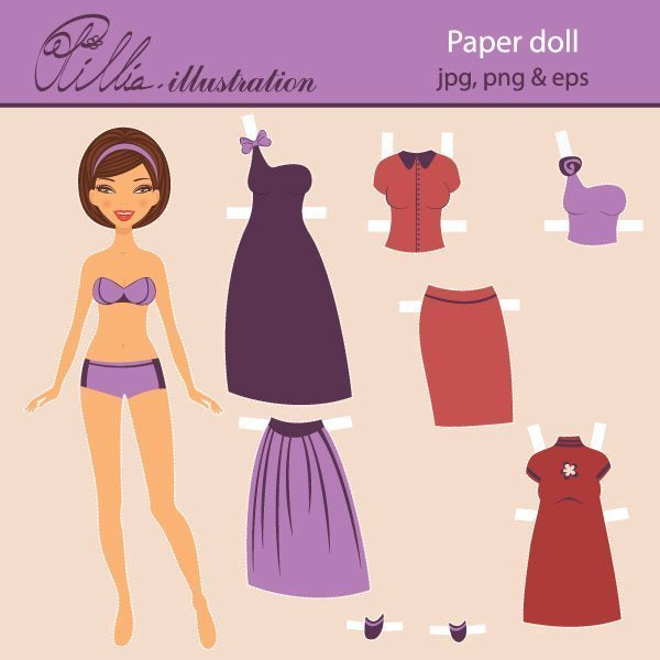 Paper doll  Olillia Illustration    Mygrafico