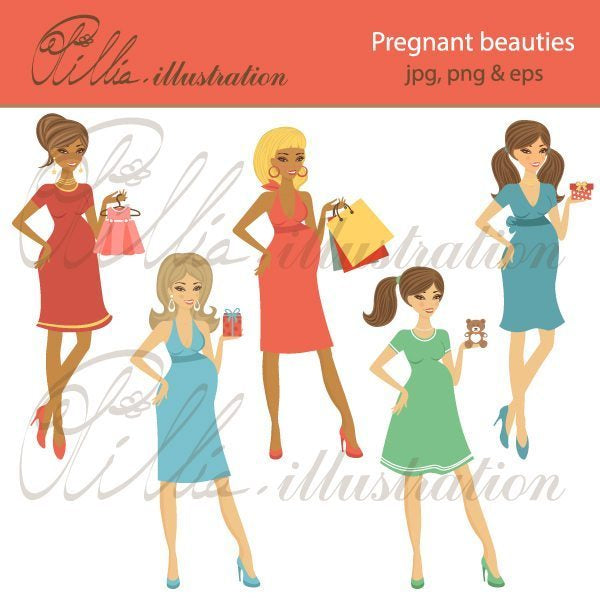 Pregnant_beauties  Olillia Illustration    Mygrafico