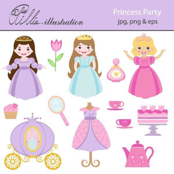 Princess Party  Olillia Illustration    Mygrafico