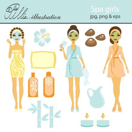 Spa girls  Olillia Illustration    Mygrafico