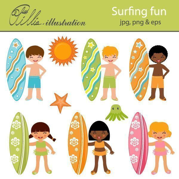 Surfing fun  Olillia Illustration    Mygrafico
