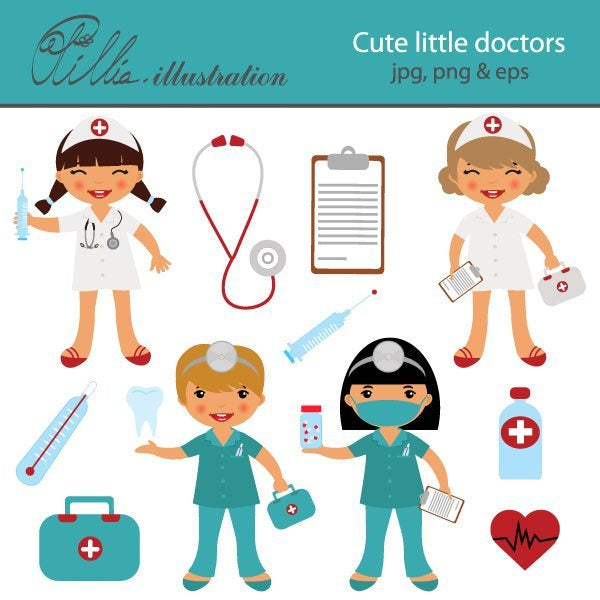 Cute little doctors  Olillia Illustration    Mygrafico