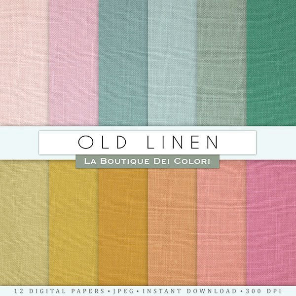 Old Linen Digital Papers  La Boutique Dei Colori    Mygrafico