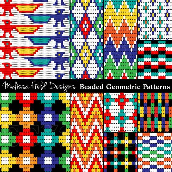 Native American Beaded Patterns Digital Paper & Backgrounds Melissa Held Designs    Mygrafico