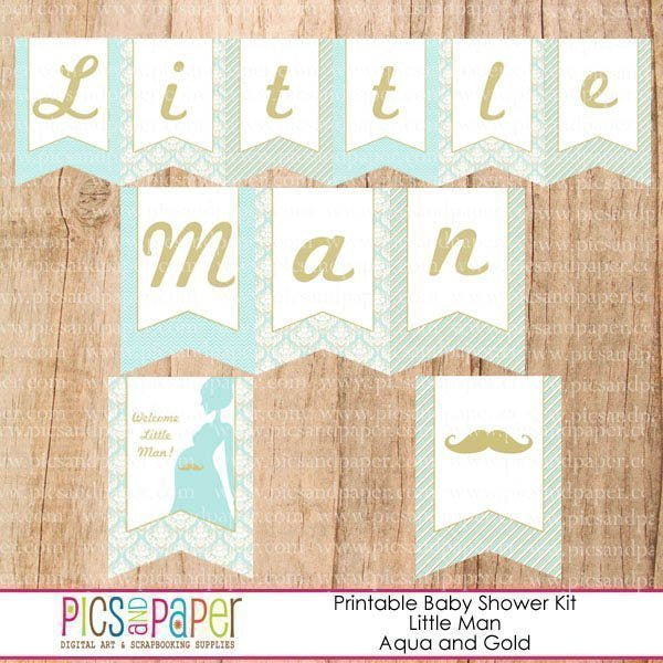Little Man Baby Shower Party Printable Party Printable Templates Pics and Paper    Mygrafico