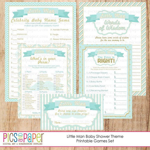 Little Man Baby Shower Printable Games Printable Templates Pics and Paper    Mygrafico