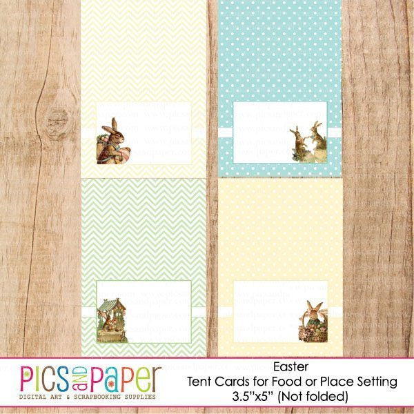Easter Printable Tent Cards Printable Templates Pics and Paper    Mygrafico
