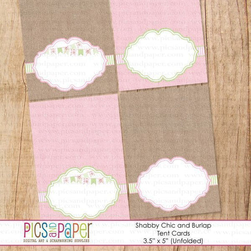 Shabby Chic and Burlap Tent Cards Printable Templates Pics and Paper    Mygrafico