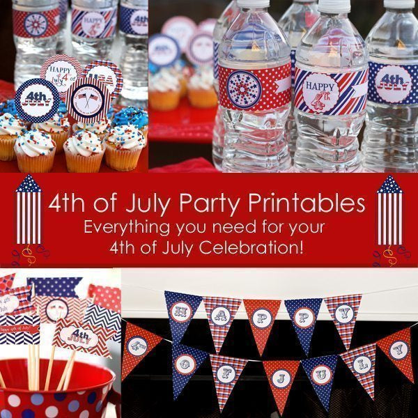 4th of July Party Printable Party Printable Templates Pics and Paper    Mygrafico