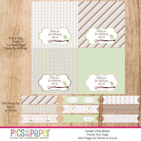 Sweet Little Birdie Party Collection  Pics and Paper    Mygrafico