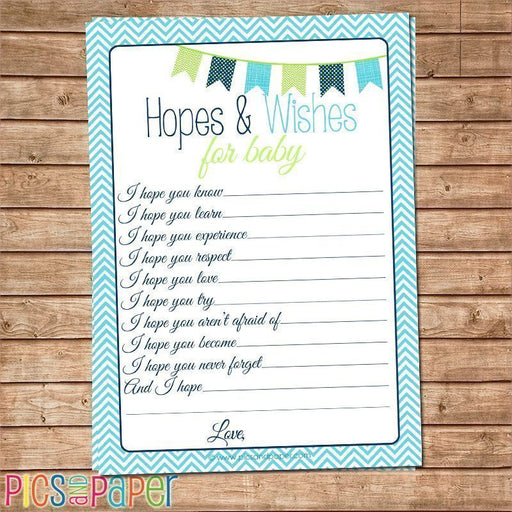 Hopes and Wishes for Baby-Aqua Printable Templates Pics and Paper    Mygrafico