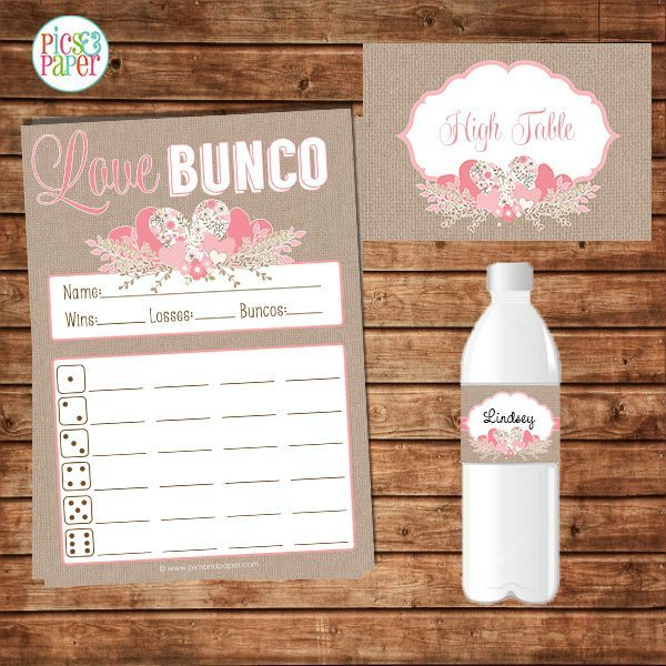 Valentine's Day Bunco Score Sheet Set Printable Templates Pics and Paper    Mygrafico
