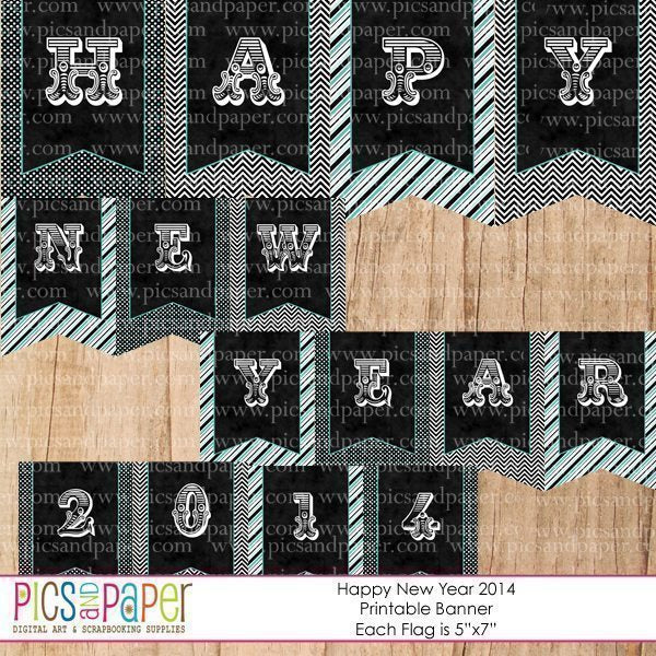 New Year Printable Party Kit  Pics and Paper    Mygrafico