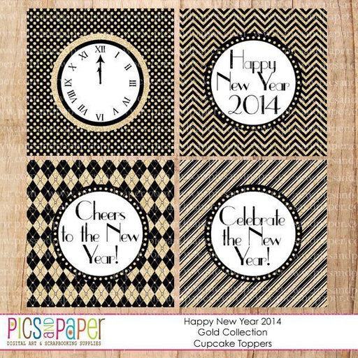 New Year Cupcake Topper Printable  Pics and Paper    Mygrafico