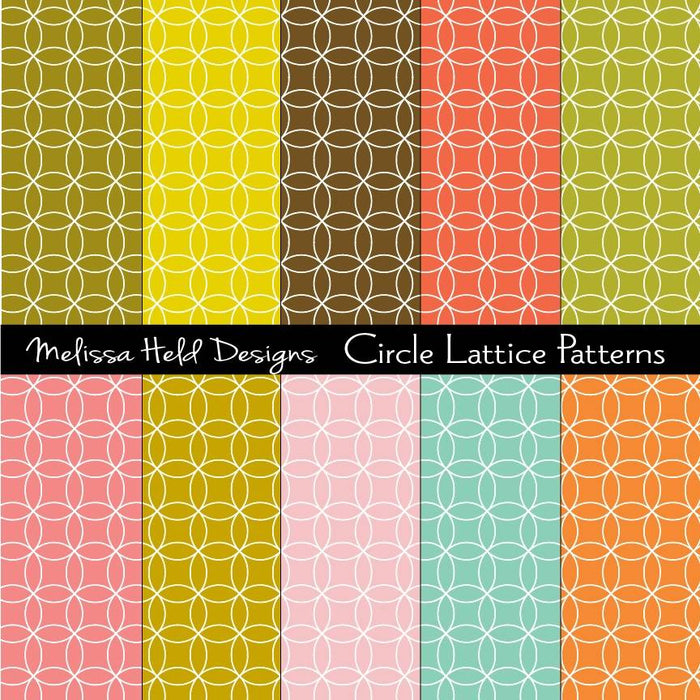 Circle Lattice Patterns Digital Paper & Backgrounds Melissa Held Designs    Mygrafico