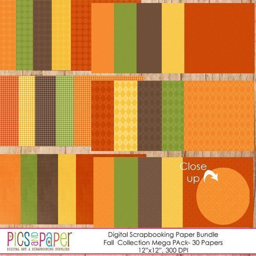 Fall Papers Mega Pack Digital Papers & Background Pics and Paper    Mygrafico