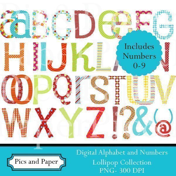 Lollipop Alphabet Cliparts Pics and Paper    Mygrafico