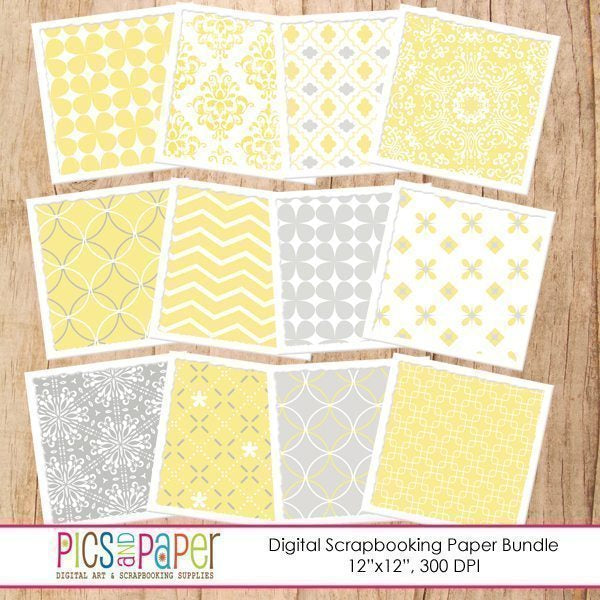 Gray and Yellow Papers Digital Papers & Background Pics and Paper    Mygrafico