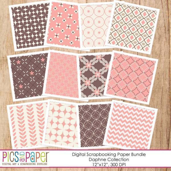 Coral and Brown Digital Papers Digital Papers & Background Pics and Paper    Mygrafico