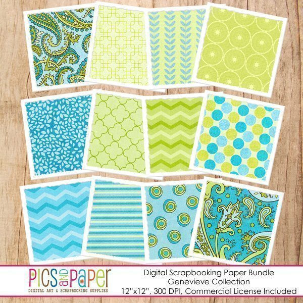 Turquoise and green paisley paper Digital Papers & Backgrounds Pics and Paper    Mygrafico