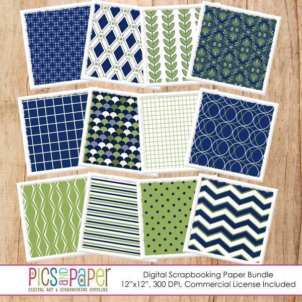 Navy and Green Papers Digital Papers & Background Pics and Paper    Mygrafico