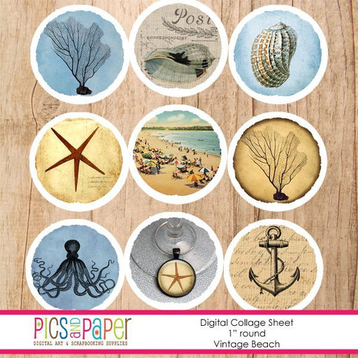Vintage Beach Printable Templates Pics and Paper    Mygrafico