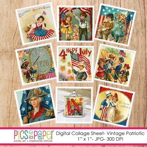 Vintage Patriotic Printable Templates Pics and Paper    Mygrafico