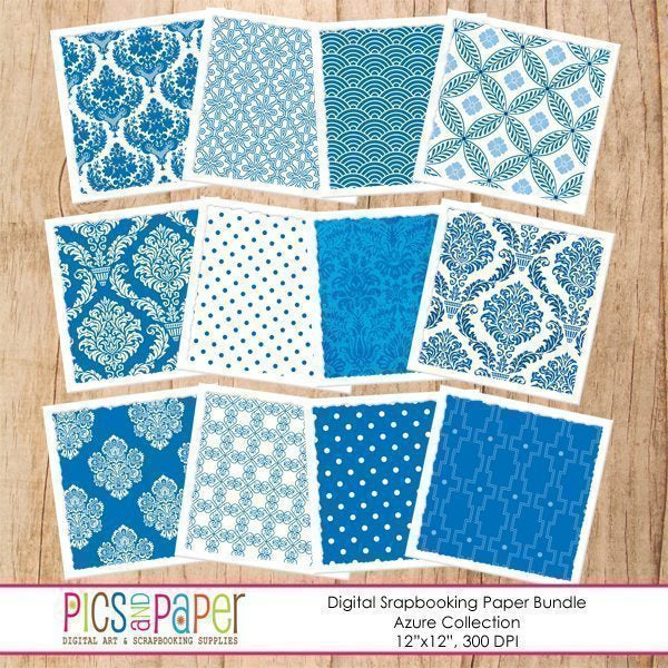 Azure Paper Digital Papers & Backgrounds Pics and Paper    Mygrafico