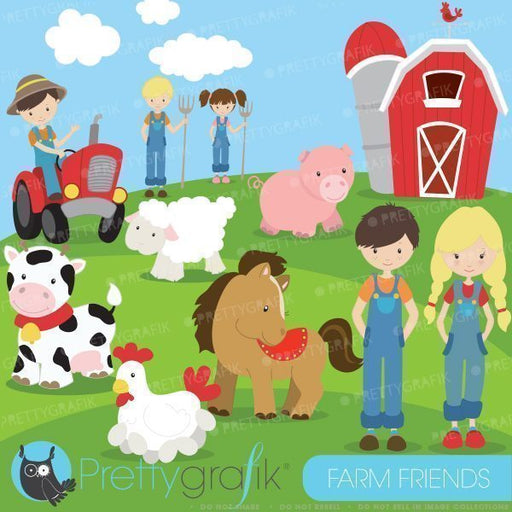 Farm friends and Animals Clipart  Prettygrafik    Mygrafico