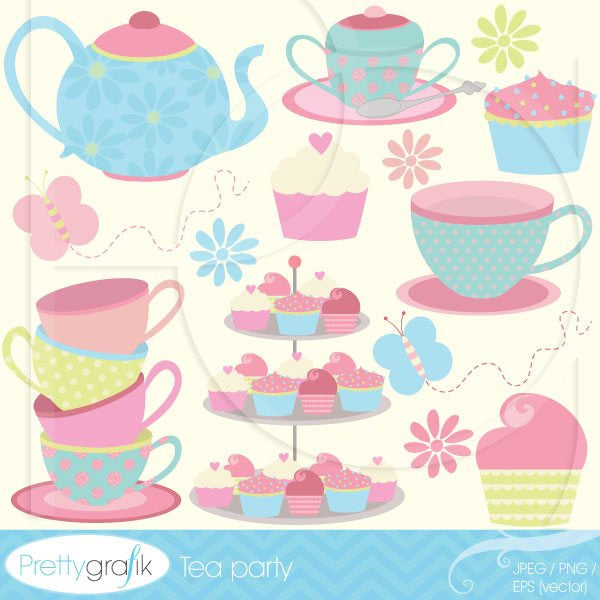 Tea party  Prettygrafik    Mygrafico