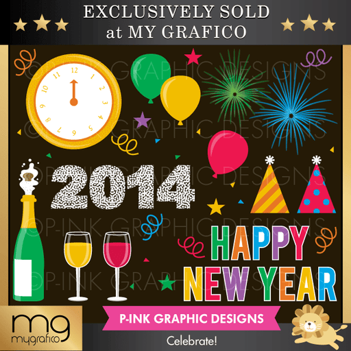 New Years Eve Celebrate Cliparts Clipart Pink Graphic Design    Mygrafico