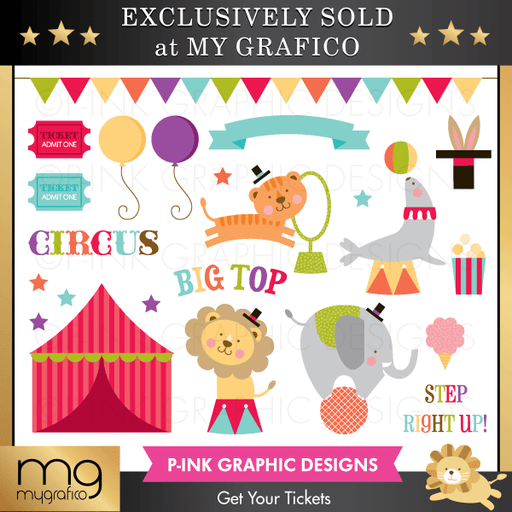 Circus Get Your Tickets Clipart Clipart Pink Graphic Design    Mygrafico
