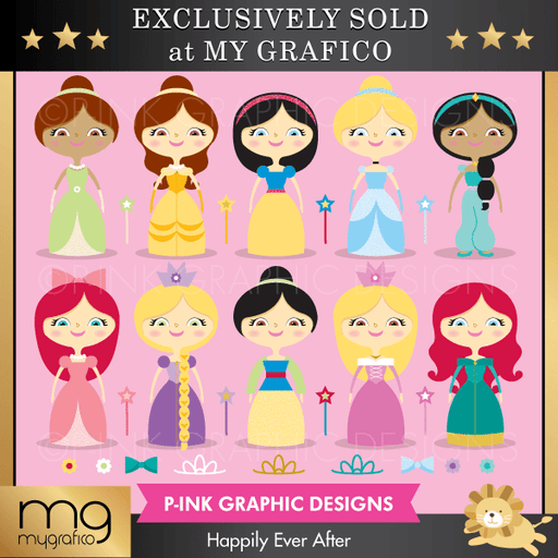Happily Ever After Clipart Pink Graphic Design    Mygrafico