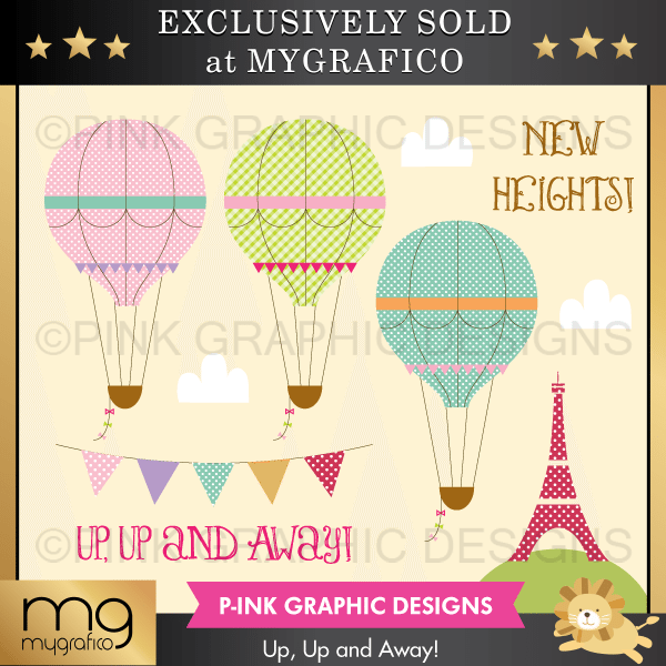 Up! Up And Away Clipart Clipart Pink Graphic Design    Mygrafico
