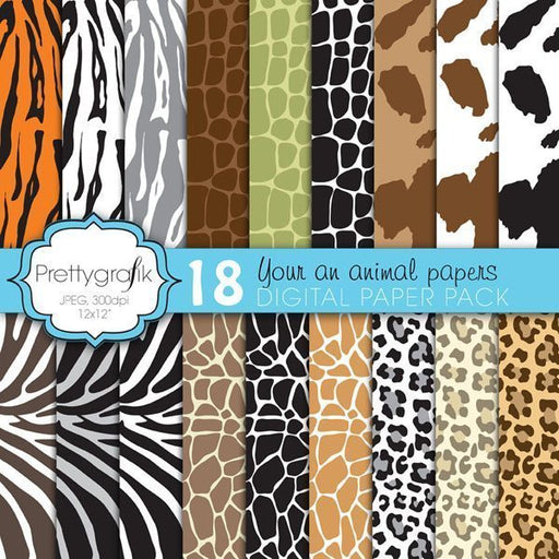 You Are An Animal Papers Digital Papers & Backgrounds Prettygrafik    Mygrafico