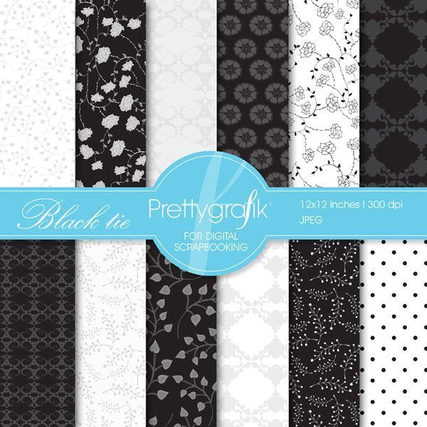 Black tie papers Digital Papers & Backgrounds Prettygrafik    Mygrafico